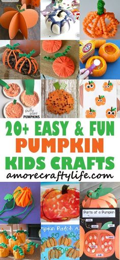 20 pumpkin kid craft