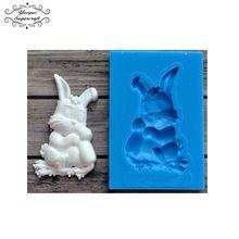 Yueyue Bunny silikonowe formy kremówka Sugarcraft gumpaste mold ciasto dekorowanie narzędzia chocolate mold(China)