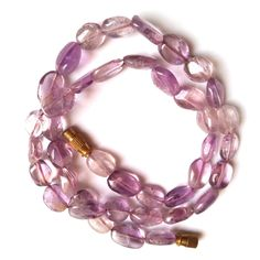 Natural Purple Amethyst Beads Oval Shaped Necklace Beads 93 CTS Vintage Necklace Beads by gemsandjewells on Etsy Amethyst Gemstone, Purple Amethyst, Beaded Necklace, Gemstones, Beads, Natural, Etsy, Vintage, Jewelry