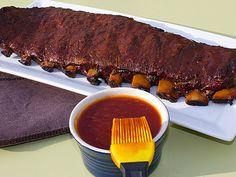 Smoked Ribs using the Method - pork baby back & spareribs - Smoked ribs 3 2 1 in Bradley Smoker - Barbecue Ribs, Barbecue Recipes, Grilling Recipes, Traeger Recipes, Smoker Ribs, Pork Back Ribs, 3 2 1 Ribs, Smoked Pork Ribs, Smoking Recipes
