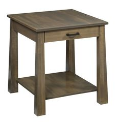 Amish Ashdale End Table Amish Ashdale End Table. Combination of contemporary and shaker styles. Amish made in Ohio. Comes in choice of wood, finish and hardware. #DutchCrafters