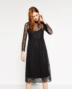 Image 4 of LACE MIDI DRESS from Zara