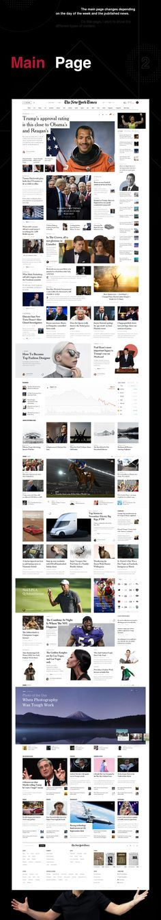 NYT Redesign Concept on Behance Web Design, Layout Design, Web Mobile, Digital Web, Adobe Xd, Editorial Layout, Best Web, Typography, Concept