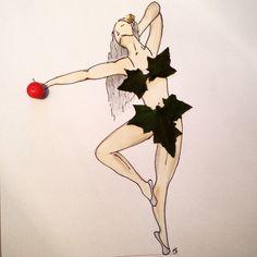 #eva #inspiration #art #floral #illustration #drawing #doodle #artwork #painting #flower #women #ballerina #dance #dancer #freedom #soul #sprit #sketch #apple #pine #artisticwork #feminine #femininepower #feminineanatomy