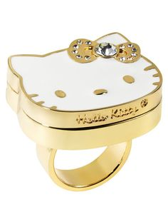 Hello Kitty Big Pink Bow - Perfume To Go Ring Available now at Sephora Hello Kitty Jewelry, Hello Kitty Items, Zapatillas Nike Jordan, Susanoo Naruto, Cat Ring, Solid Perfume, Here Kitty Kitty, Sanrio, Jewelery