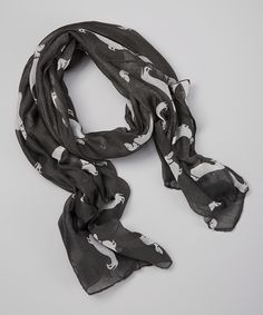 Dark Gray Weiner Dogs Scarf | Daily deals for moms, babies and kids