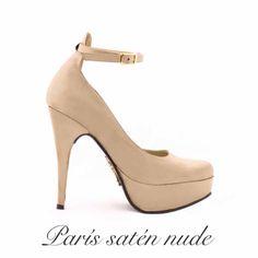 Paris satén nude colección NIKKA inv 2014 #nikka #nicoleneumann #paris #satén #nude #fashion #shopping #shoes #crueltyfree