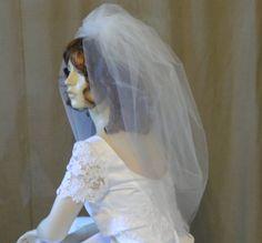 Wedding Veil Bubble Veil Tulle Bridal Veil by AnnMarieBridalVeils, $49.00