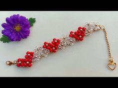 Beaded Heart Bracelet// Bracelet Making// Useful & Easy aboncuk Beaded Heart Bracelet// Bracelet Mak Beaded Bracelets Tutorial, Beaded Jewelry Patterns, Bead Jewellery, Diy Schmuck, Tiffany Jewelry, Jewelry Making Tutorials, Heart Bracelet, Bracelet Designs, Bracelet Making