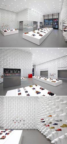 Shop Interior Design, Retail Design, Visual Merchandising, Shoe Store Design, Camper Store, Display Design, Shoe Display, Store Fixtures, Retail Interior