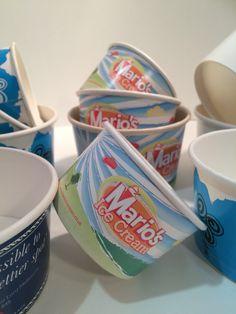 Branded ice cream cups Cream Cups, Ice Cream, Paper Cups, Mugs, Printed, Tableware, No Churn Ice Cream, Dinnerware, Icecream Craft