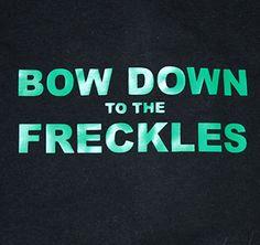 Bow Down to the Freckles Tshirt St Patricks Day t-shirt funny tee cool irish tshirt st patricks day shirt on Etsy, $20.00