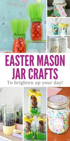 LOVE these Easter Mason Jar crafts - and the kids will too!