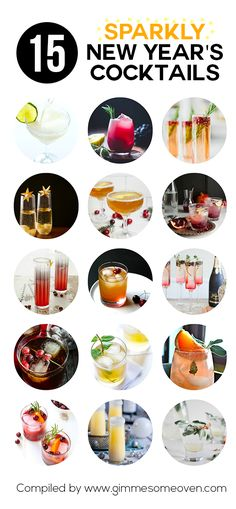 A delicious list of sparkling cocktails by food bloggers that are perfect for New Year's Eve!
