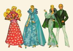 1980s Barbie paper doll