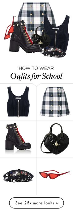 """The girl in school who does the most"" by wh0s-that-grrrl on Polyvore featuring Thom Browne, T By Alexander Wang, Vivienne Westwood, Gucci and Marc by Marc Jacobs"