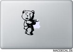 """Für alle Donner-Buddie da draußen. Ted für euren """"geliebten"""" Macbook!  http://www.macdecal.de/hollywood-macbook-sticker/macbook-sticker-aufkleber-ted.html"""