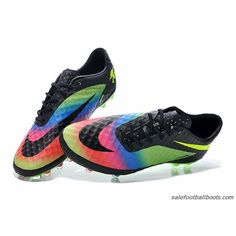 2015 New Get Nike Hypervenom Phantom Premium FG Green Blue Red Black $63.99