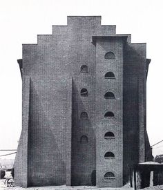 In a parallel with Ross Wolfe, (yet purely coincidential) we publish here an early industrial work of architect Hans Poelzig, one of the finest examples of German Architectural Expressionism. As an architect and theoretician, Poelzig was particularly i German Architecture, Contemporary Architecture, Architecture Details, Concrete Architecture, Ancient Architecture, Amazing Architecture, Hans Poelzig, Brick Masonry, Hand Sketch