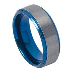 Description:    SKU# TR744 8mm 8mm Men's Tungsten Wedding Band Ring Blue IP Plated Beveled Edge & Gun Metal Brushed Finish    Style: Fashion, Modern  Type: Tungsten Band Ring  Material: Tungsten Carbide  Color: Gun Metal, Blue  Ring Width: 8mm  Sizes (US): 7, 7.5, 8, 8.5, 9, 9.5, 10, 10.5, 11, 11.5, 12, 12.5, 13, 14, 15    Package Includes:  1 x Ring (Without Gift Boxes)    Notice:  1.Due to the difference between different monitors, the picture may not reflect the actual color of the item…
