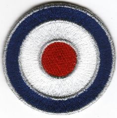 Mod Quadrophenia Q Blue White And Red Embroidered Patch