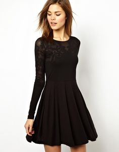 French Connection Bella Burn Out Skater Dress...christmas parties.