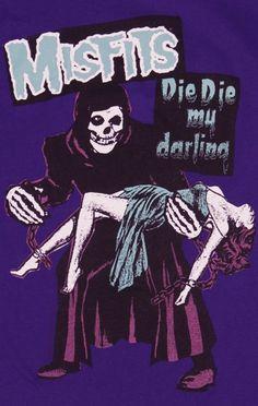 Misfits - Die Die My Darling Illustration Photo, Illustrations, Arte Horror, Horror Art, Misfits Band, Danzig Misfits, Arte Punk, Punk Poster, Rock Band Posters