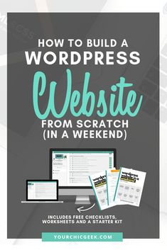 Want to learn how to build a WordPress Website from scratch (in a Weekend)? Consider this your quick start guide + list of essential tasks to complete. Hey this is a GREAT place to build your website today -- try it now! Wordpress For Beginners, Learn Wordpress, Wordpress Plugins, Blogging For Beginners, Wordpress Free, Wordpress Admin, Wordpress Support, Web Design For Beginners, Tips