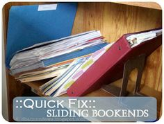 Keep Bookends from Sliding: simple fix