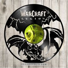 WOW art clock Warcraft home decor Illidan gift clock