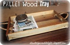 DIY Homemade Pallet Wood Tray