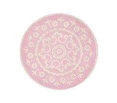McKenna Round Rug- Pink | Pottery Barn Kids