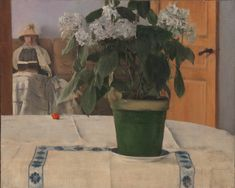 Fernand Khnopff (Belgian, 1858–1921). Hortensia, 1884. Oil on canvas; 18 13/16 x 23 1/2 in. (47.8 x 59.7 cm). The Metropolitan Museum of Art, New York, Purchase, Bequest of Julia W. Emmons, by exchange, and Catharine Lorillard Wolfe Collection, Wolfe Fund, and Promised Gift of Charles Hack and the Hearn Family Trust, 2015 (2015.263)
