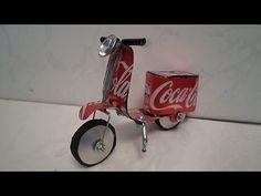 Como fazer lambreta de latinha da Coca Cola, Guidão de Guarda Chuva '' tutorial 01'' - YouTube