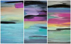 Easy DIY Abstract Sunset Painting | The Design Confidential