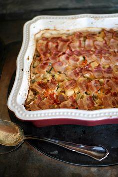 Kesäkurpitsa pekoni vuoka Easy Cooking, Lasagna, Food Inspiration, Quiche, Macaroni And Cheese, Easy Meals, Food And Drink, Breakfast, Ethnic Recipes
