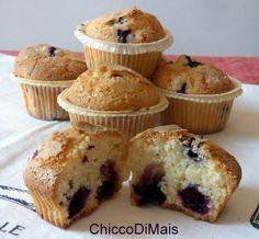 Muffin ai mirtilli (ricetta americana). Ricetta originale americana dei blueberry muffins, muffin ai mirtilli facili e veloci anche senza glutine