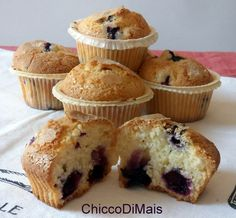 Muffin ai mirtilli (ricetta americana)