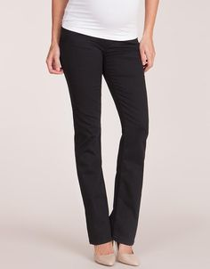 Black Over Bump Boot Cut Maternity Jeans | Seraphine | MATERNITY ...