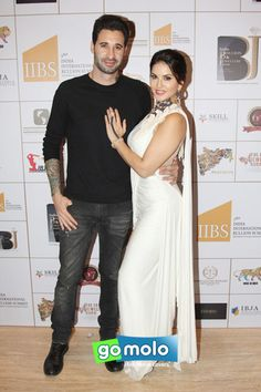 Daniel Weber & Sunny Leone at India Bullion & Jewellers Association (IBJA) Awards at Hotel Sahara Star in Vile Parle, Mumbai