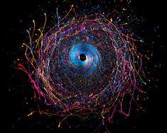 Black Hole - Fotos coloridas utilizando tinta e uma broca | Revelando Ideias