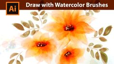 In this Tutorial I show you how to draw Flowers and leaves with Watercolor Brushes in Adobe Illustrator. SUBSCRIBE: http://www.youtube.com/user/Dagubi?sub_co...