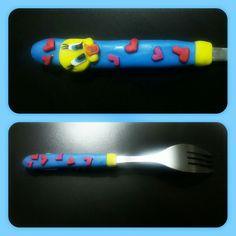 Tweety Polymerclay Fork