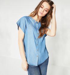 f4535a7443 Camisa cor de ganga - Jeans básico - Camisas - Mulher - Promod