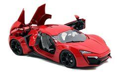Jada 1/18 Scale Fast & Furious 7 Lykan Hypersport Red Diecast Car Model 97388   Die Cast Model Cars