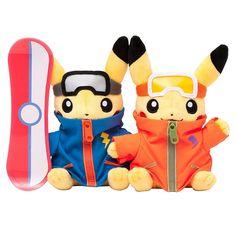 Monthly Pair Pikachu 2016 December Pokemon Center Plush Doll.with the bonus item #PokemonCenter