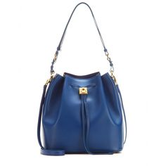 Salvatore Ferragamo - Sansy leather bucket bag - Sleek and chic no matter what the occasion, this Salvatore Ferragamo bucket bag is topping our must-have list this season. We love the rich blue shade as an alternative to black for the colder months. It's the perfect partner to urban and elegant looks alike. seen @ www.mytheresa.com