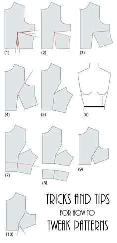Sewing Techniques Couture How to take a basic bodice sewing pattern and tweak it for a different design. - How to take a basic bodice sewing pattern and tweak it for a different design. Sewing Patterns Free, Free Sewing, Clothing Patterns, Fashion Patterns, Dress Sewing Patterns, Sewing Hacks, Sewing Tutorials, Sewing Crafts, Sewing Tips