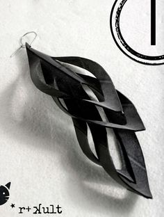EYE FEATHER innertube / inner tube rubber earrings by RTKULT on Etsy