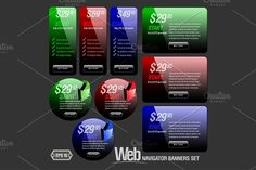 Abstract Shiny Glass Banner by Sunny on @creativemarket